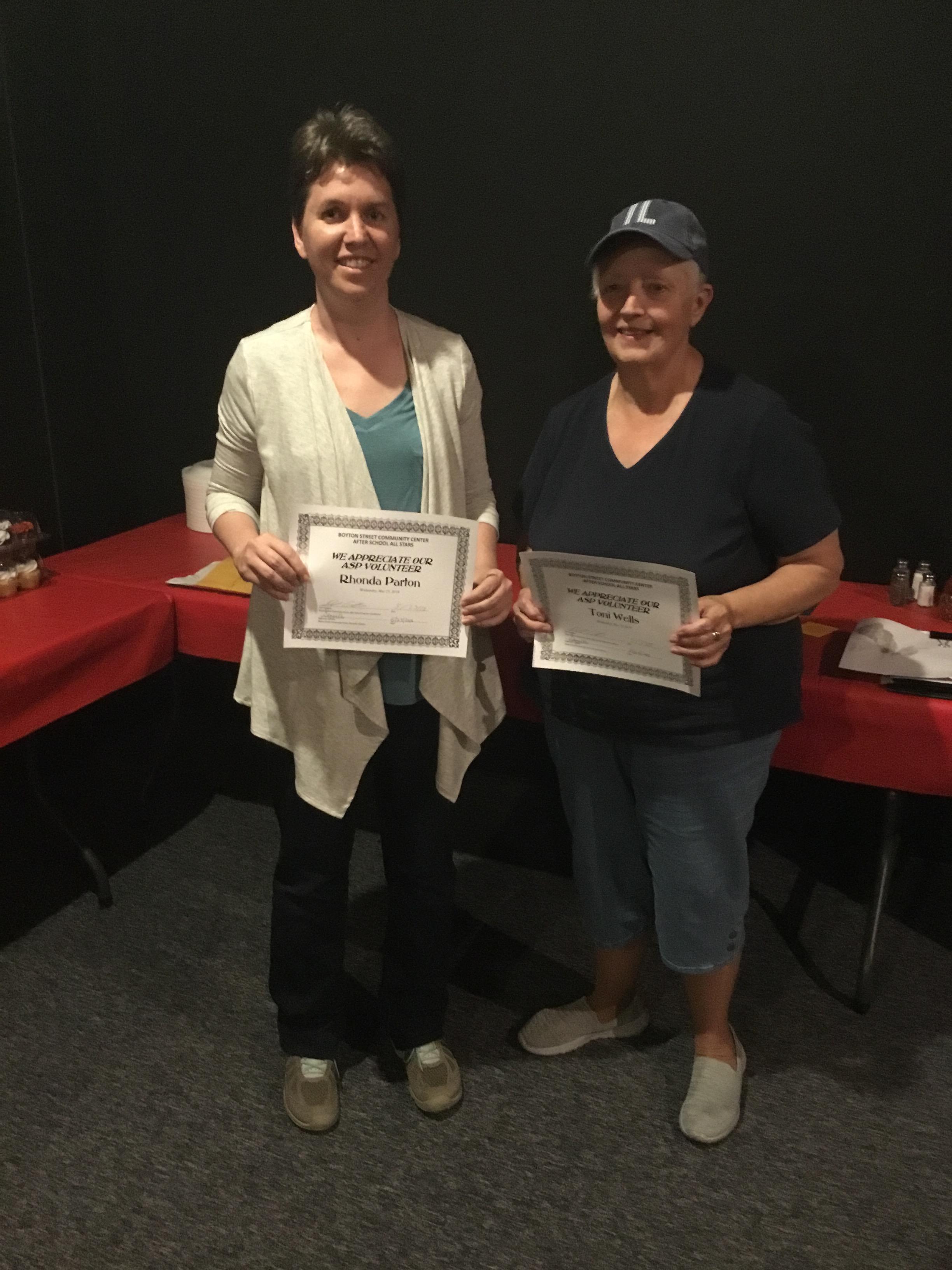 5. Volunteers-Rhonda and Toni